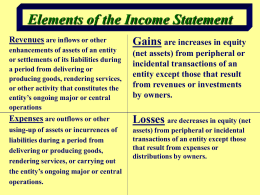 Income Statement: What should be included on the current period`s