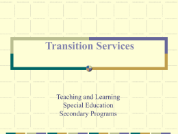 Teaching and Learning Special Education Secondary Programs