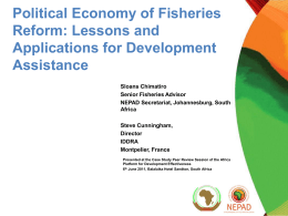 Fisheries Aid-Effectiveness - Africa Platform for Development