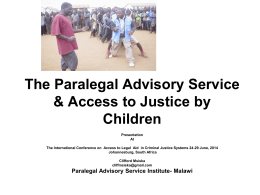 The Paralegal Advisory Service