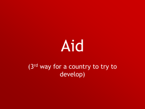 Aid - Think Geography