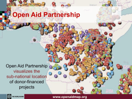 Open Aid partnership PowerPoint