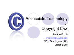 Accessible Technology v. Copyright Law