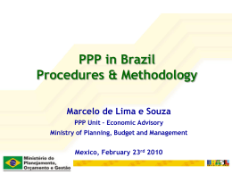 The Brazilian PPP Program