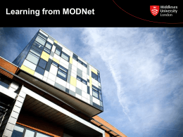 Learning from Modnet