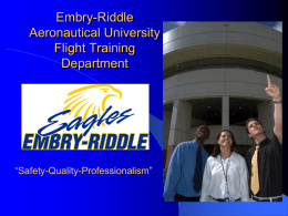 Flight Department Organization - NTAS - Embry