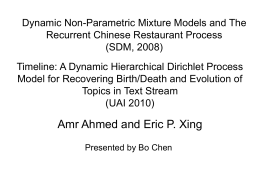 Timeline: A Dynamic Hierarchical Dirichlet Process Model for