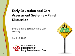Early Education and Care Assessment Systems