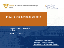 People Strategic Direction ELF Update – June 2013