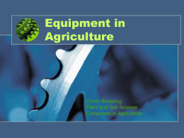Equipment in Agriculture