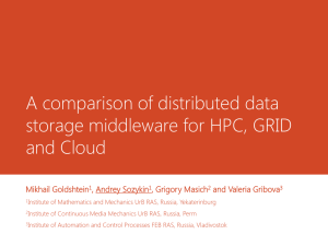 A comparison of distributed data storage middleware for HPC, GRID