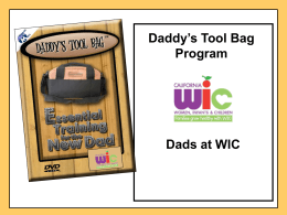 Daddy`s Tool Bag Workshop