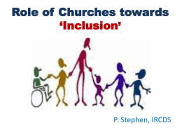 10.Role of Churches in Mainstreaming / Inclusion – PowerPoint