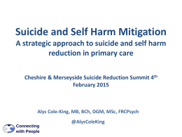 Suicide Prevention in Primary Care: Combining Clinical