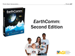 EarthComm_Overview_2013v2 - American Geological Institute