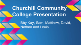 Churchill Community College Presentation