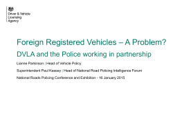 Foreign Registered Vehicles – A Problem?