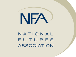 Slide 1 - National Futures Association