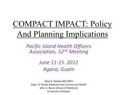 COFA- Compact Impact Policy And Planning Implications