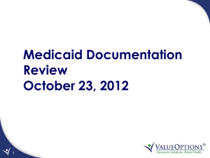 Medicaid Documentation Review - Colorado Health Partnerships