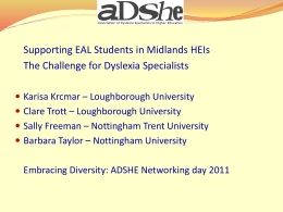 Supporting EAL Students in Midlands HEIs