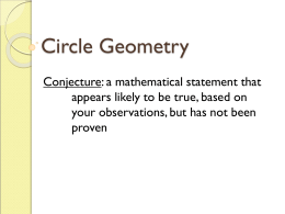 Circle Conjecture Summary
