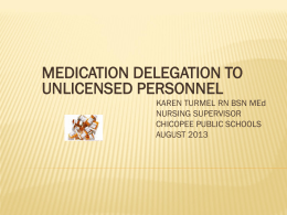 Medication Delegation Learning Module