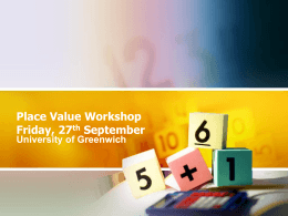 Pace Value workshop slides