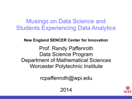integrative data science - Worcester Polytechnic Institute