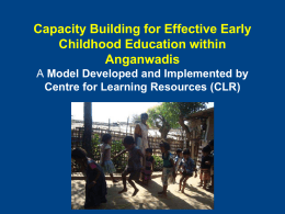 CLR Capacity Building Model