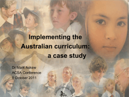 Powerpoint - Australian Curriculum Studies Association
