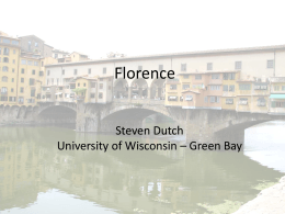Florence - University of Wisconsin