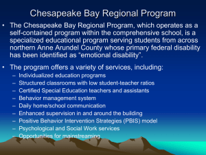 Chesapeake Bay Regional Program - Anne Arundel County Public