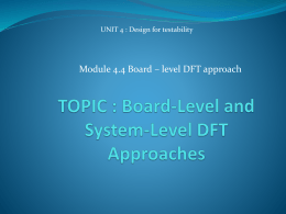 Board-Level and System-Level DFT Approaches