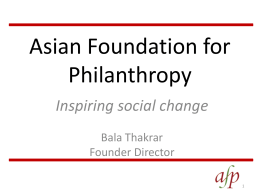 Asian Foundation for Philanthropy