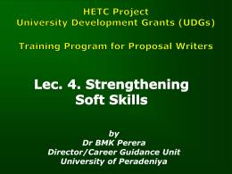 Lec 4. Strengthening Soft Skills by Dr. BMK