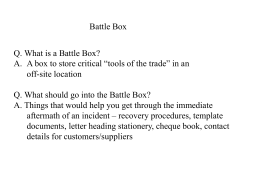 Battle Box - ABC Solutions