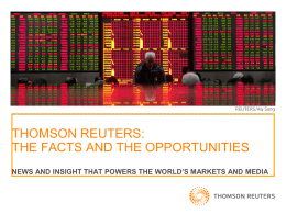 Reuters - Facts and Opportunities Sept 2012
