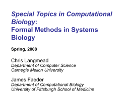 Formal Methods in Systems Biology
