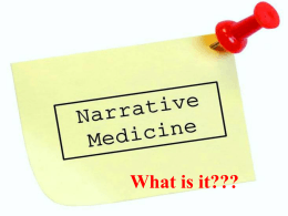 January 2014 – Narrative Medicine, S Vas