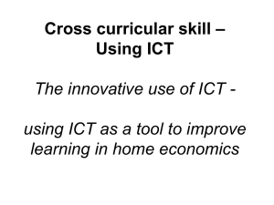 Innovative use of ICT in home economics