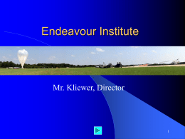 Student Intro to Endeavour Institute