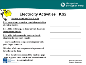 Electricity Extra Resources and Ideas