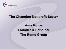 Changing the Nonprofit Sector