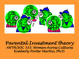 331 Parental Investment Theory PowerPoint