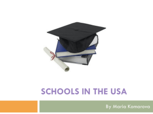 Schools in the USA by Komarova