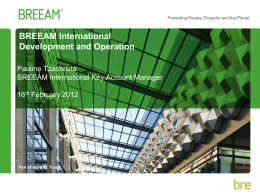 BREEAM International Schemes - UPSI-BVS