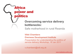 Overcoming service delivery bottlenecks
