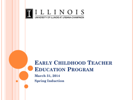 Early Childhood New Admits Power Point
