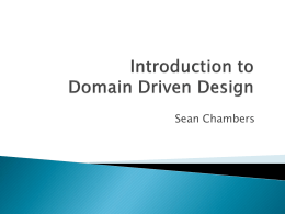 Introduction to Domain Driven Design